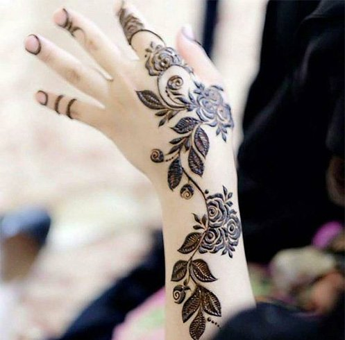 Best Flower Mehndi Designs