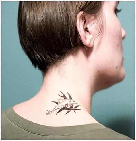 Dolphin Neck Tattoos