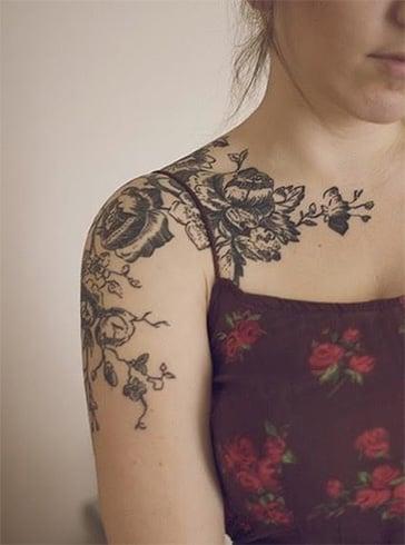 Shoulder Tattoo for Girls
