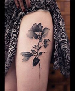 watercolor flower tattoo-sophisticated magic