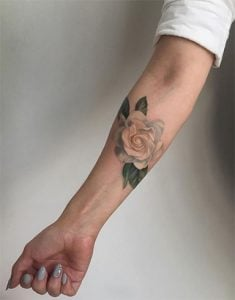 watercolor rose tattoo-a soul connection