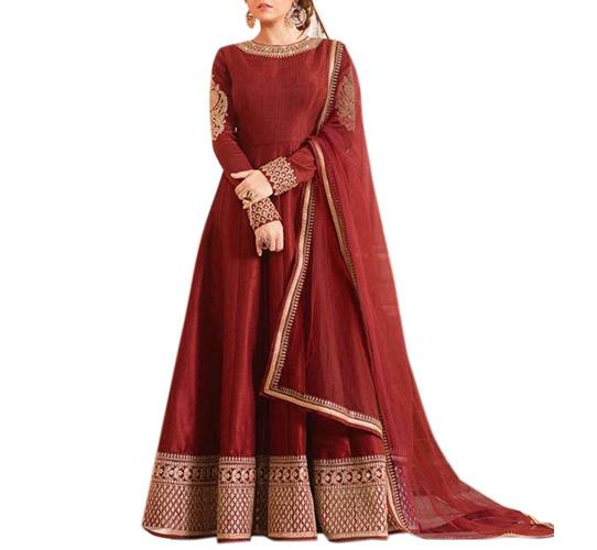 Active Women's Crepe Silk Anarkali Salwar Suit