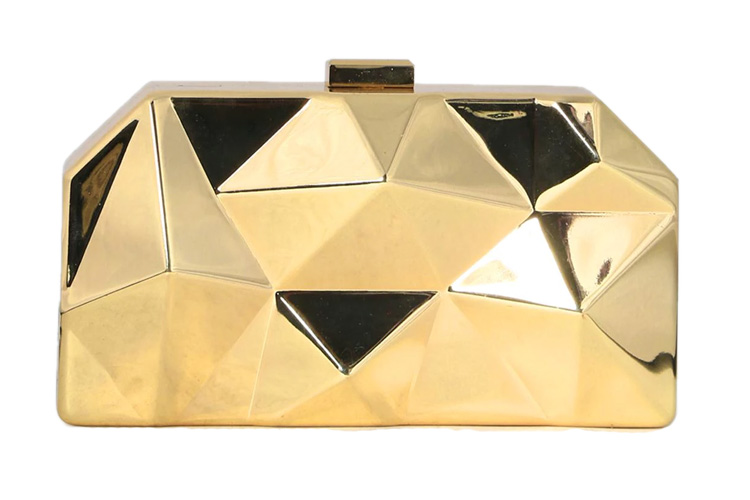 Gold-toned Metallic Clutches