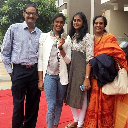 PV Sindhu Family