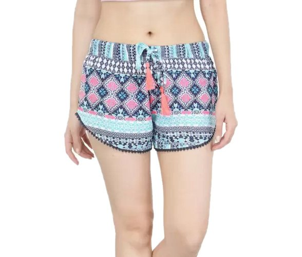 Printed Women Multicolor Night Shorts