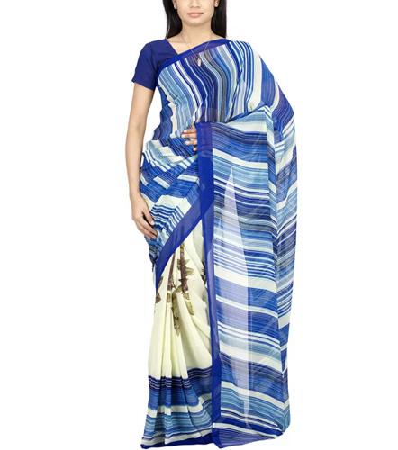 The Chennai Silks -Half & Half Micro Georgette Saree