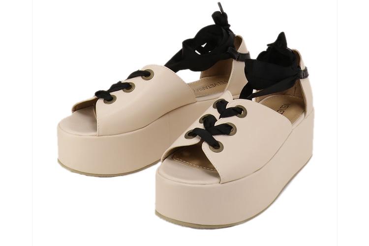 Tie Up Flatform Sandals