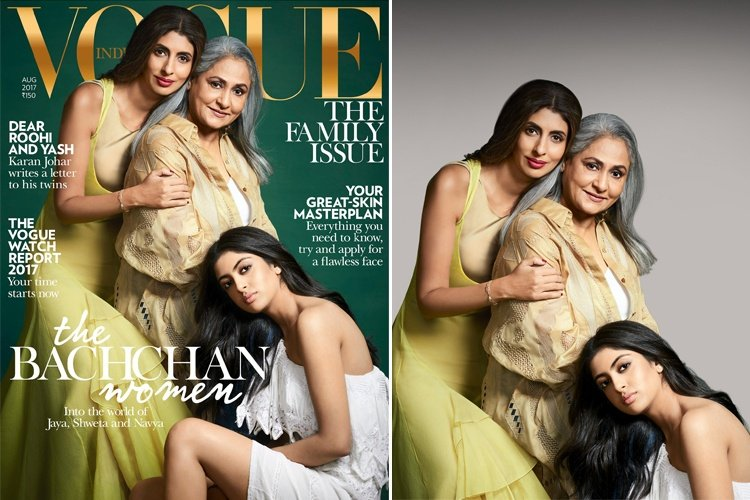 Bachchan Nanda Family Ladies on Vogue Cover
