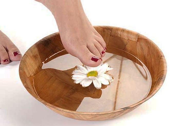 Chamomile Tea for Corn Feets