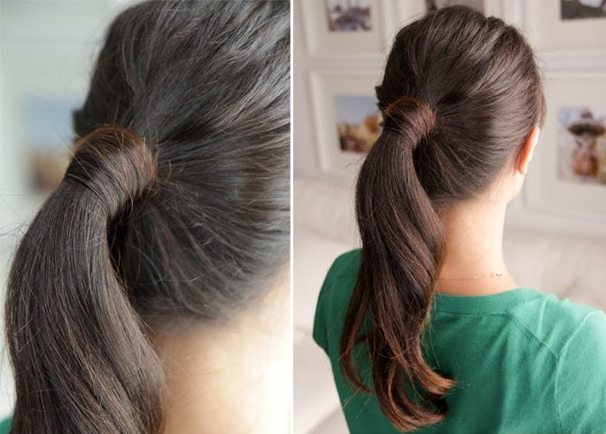 Classy Pony Tail With Base Wrap