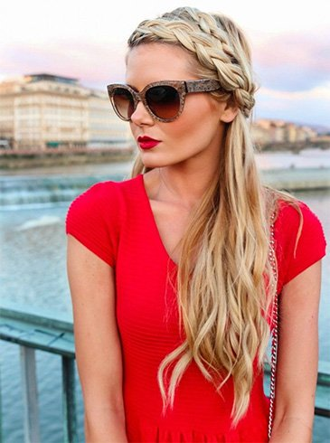 Front Braid with Open Hairs
