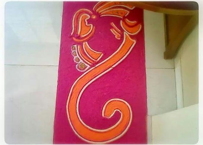 Ganesh Chaturthi Special Rangoli Designs