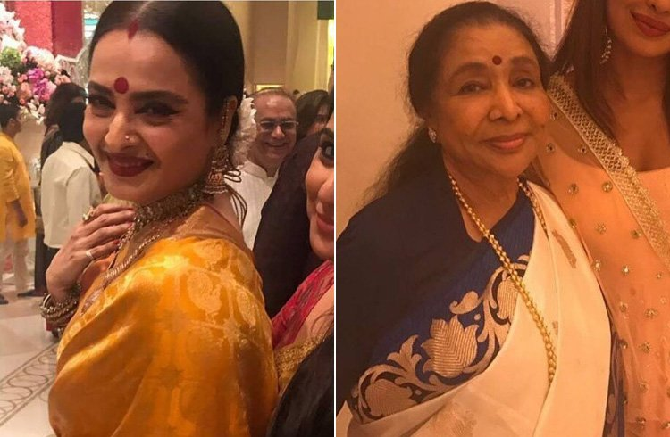 Rekha and Asha Bhosle