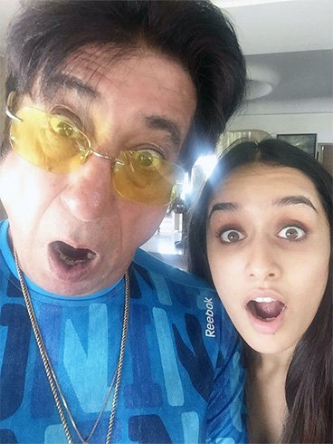 Shraddha Kapoor With Father Shakti Kapoor