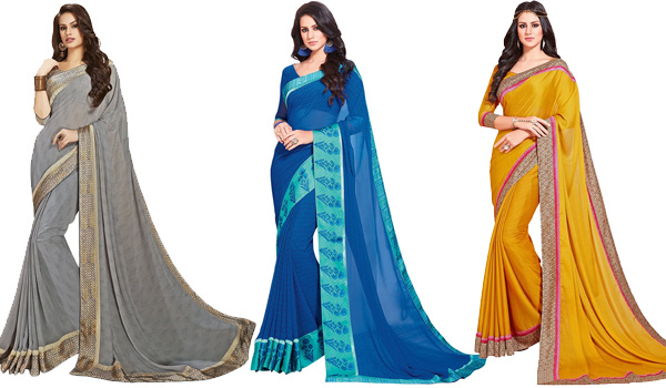 Solid Colour Sarees