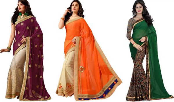 Voonik Half Saris