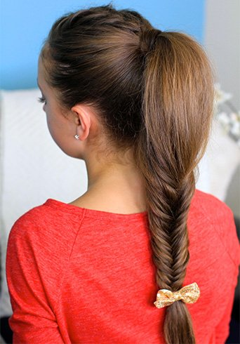Fluffy Twisted Hairstyle with Fishbone Plait