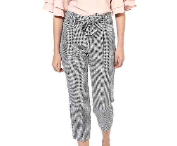 Grey Printed Coloured Pant
