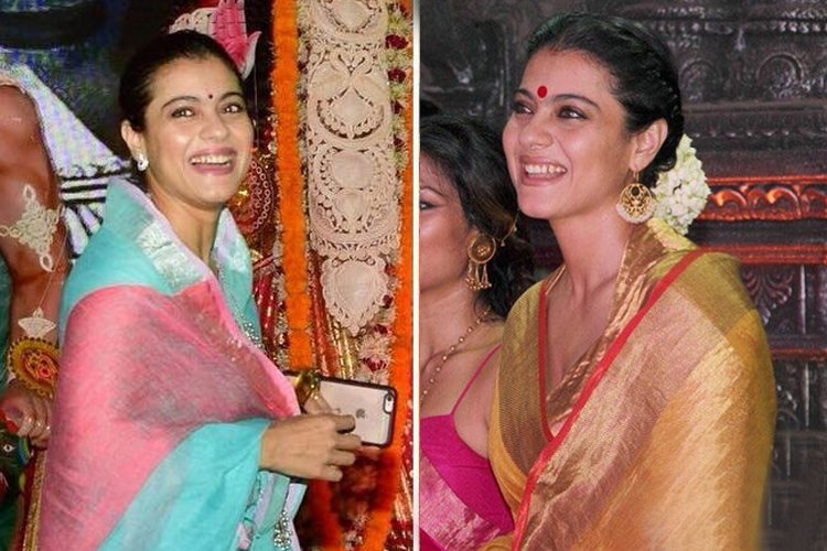 Kajol Fashion In Durga Pooja