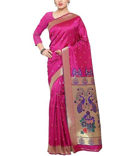 Kvsfab Women's Traditional Kanjivaram Silk Saree