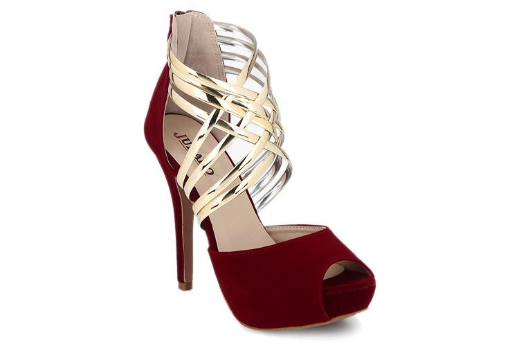 Maroon Metallic Stilettos