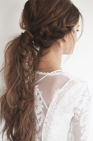 Messy Braided Pony Tail