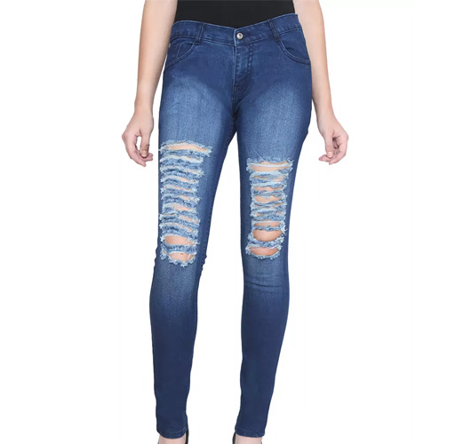 Mid-Rise Blue Stretchable Jeans