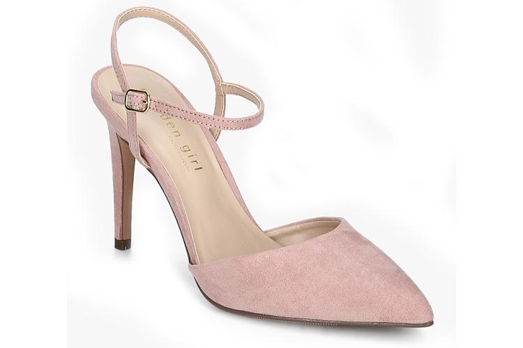 Paisleyy-Ankle Strap Pink Stilettos