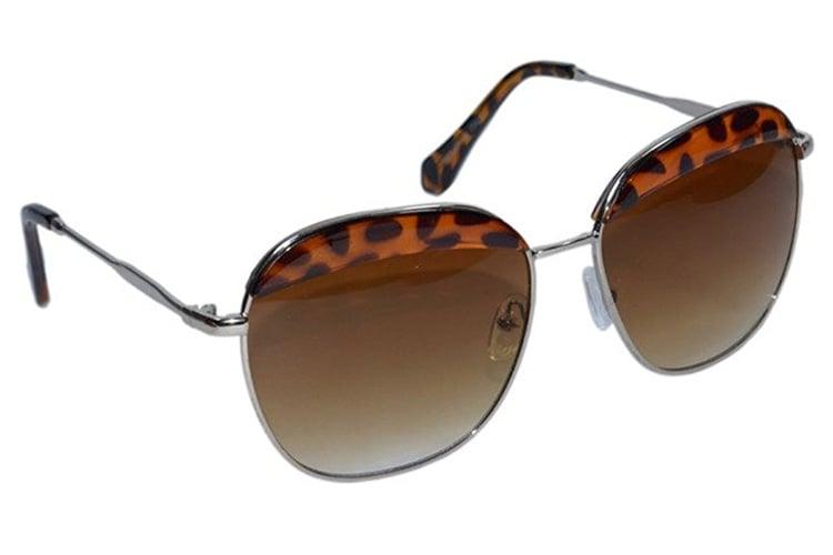 Peter Jones Animal Print Oversized Sunglasses