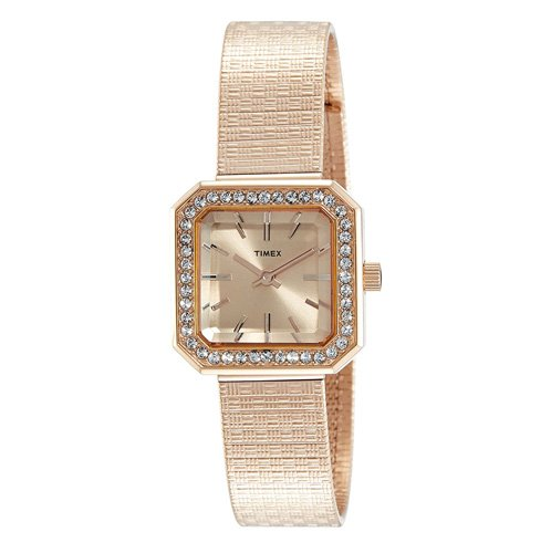Timex Analog Rose Gold Dial Women's Watch