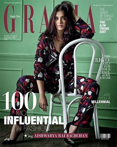 Aishwarya Rai on Grazia September 2017