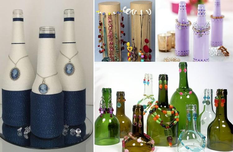 Bottle Jewelry Holder Ideas