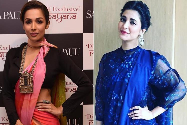 Celebrity Sari Trends
