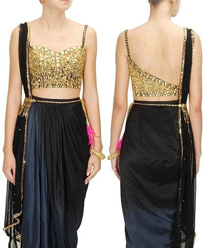Designer Golden Blouse Patterns