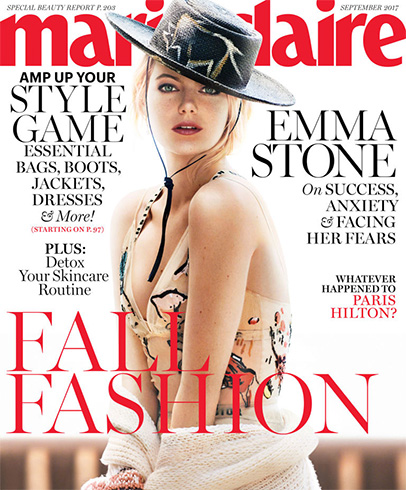 Emma Stone on Marie Claire