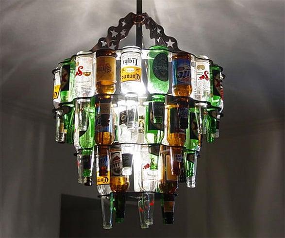 Glass Bottle Craft Idea