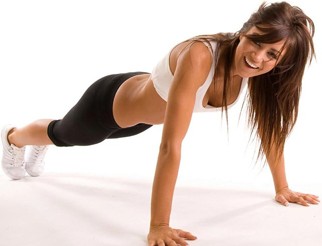 Isometric Push-up for Abs