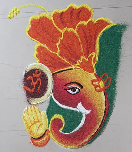 Latest Ganesh Rangoli Designs