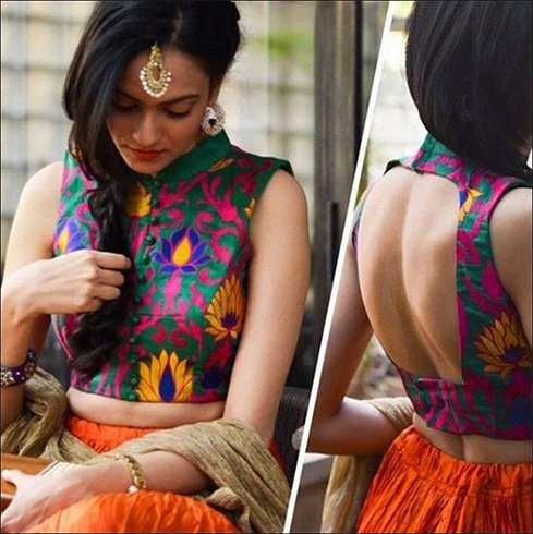 Neck Saree Blouse Designs