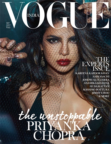 Priyanka Chopra on Vogue India September 2017