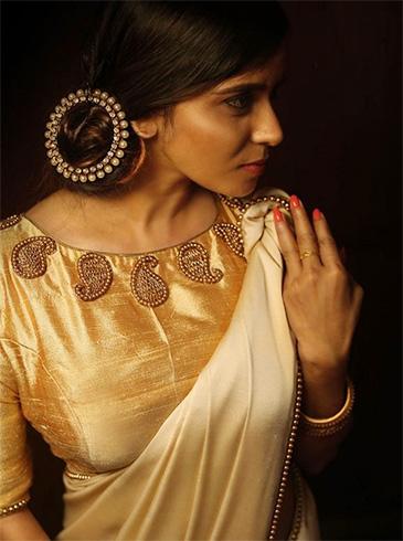 Kerala Saree Brocade Blouse Designs