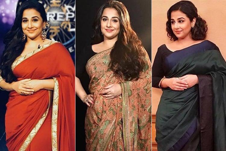 Vidya Balan Sari Styles