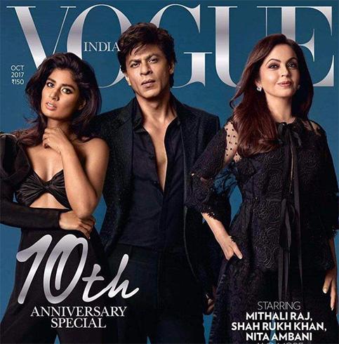 Mithali Raj, Shah Rukh Khan, and Nita Ambani