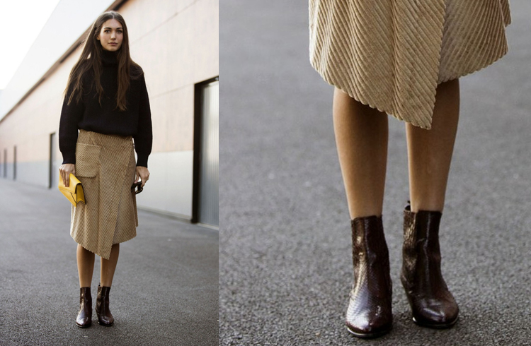 Ankle boots to wear with skirts