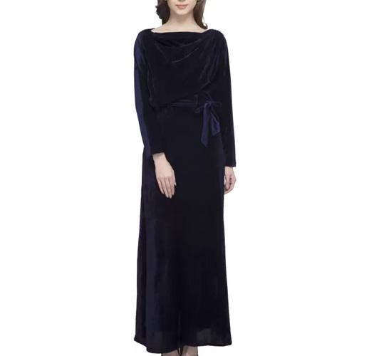 Athena Womens Maxi Dark Blue Dress