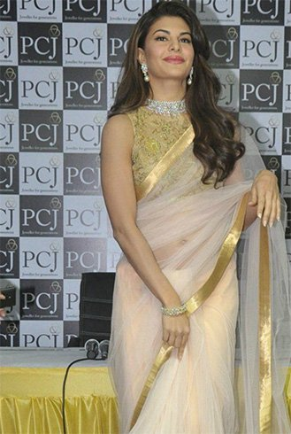 Chiffon saree with white golden net blouse