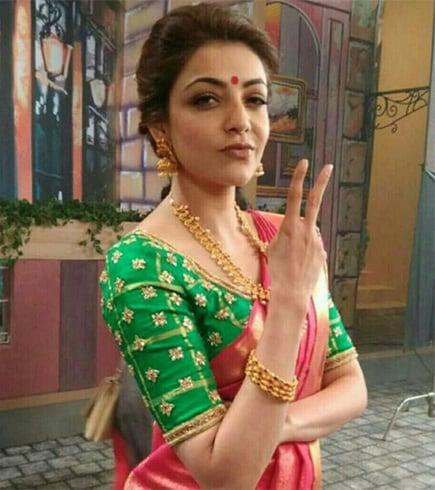 Embellished kundan work blouse for pattu sarees
