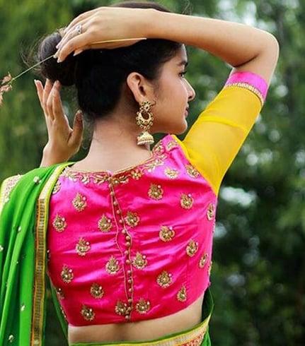 Gotta patti blouse for pattu sarees