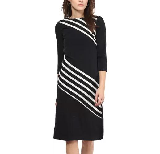 Harpa Women's A-line Black Dress