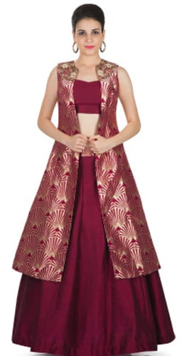 Jacket With Banarasi Saree